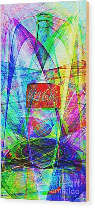 Coca Cola Bottle 20130621di Long Wood Print by Wingsdomain Art and Photography