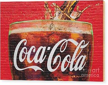 Coca Cola Wood Print by Luciano Mortula
