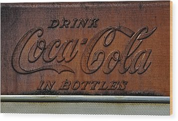 Coca-cola Sign Wood Print by Andy Crawford