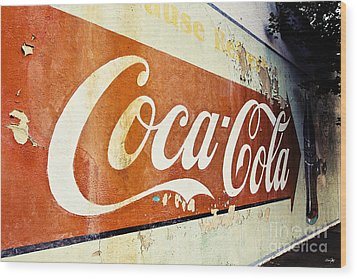 Coca Cola Sign  Wood Print by Scott Pellegrin