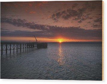 Cockenzie Sunset Wood Print