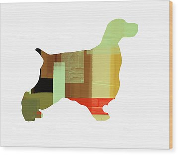 Cocker Spaniel 1 Wood Print by Naxart Studio
