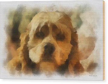 Cocker Spaniel Photo Art 03 Wood Print by Thomas Woolworth