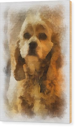 Cocker Spaniel Photo Art 04 Wood Print by Thomas Woolworth
