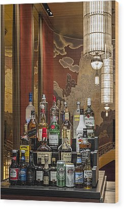 Cocktail Hour Wood Print by Susan Candelario