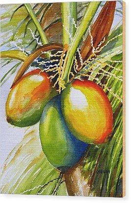 Coconuts Wood Print by Carlin Blahnik