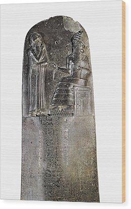 Code Of Hammurabi. Ca. 1750 Bc Wood Print by Everett