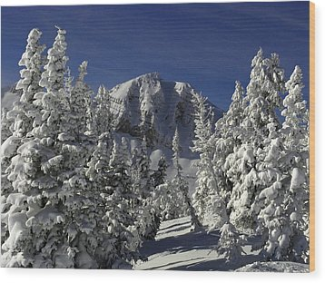 Cody Peak After A Snow Wood Print