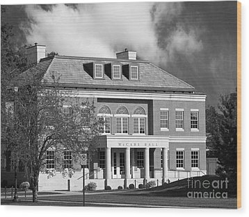 Coe College Mc Cabe Hall Wood Print by University Icons