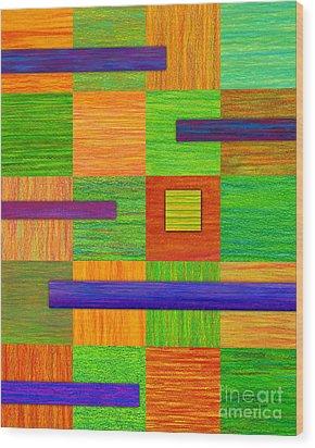 Coexist Wood Print by David K Small