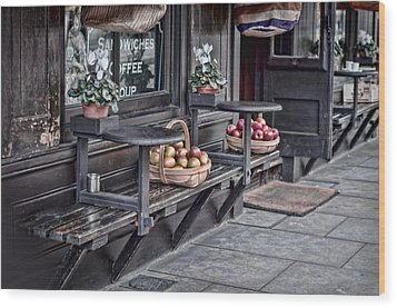 Coffe Shop Cafe Wood Print by Heather Applegate