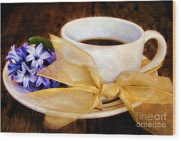 Coffee 4 One Wood Print by Darren Fisher