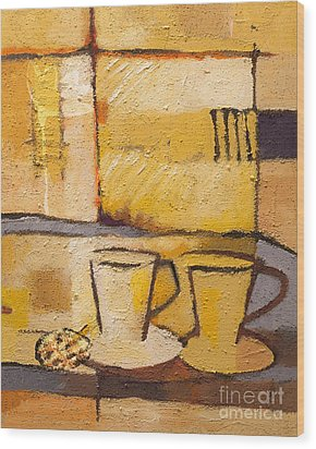 Coffee And Bisquit Wood Print by Lutz Baar