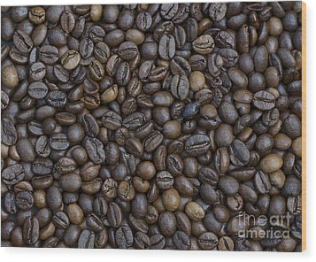 Coffee  Wood Print by Bobby Mandal