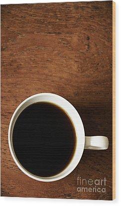 Coffee Break Wood Print by Birgit Tyrrell