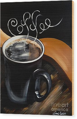 Coffee Break Wood Print