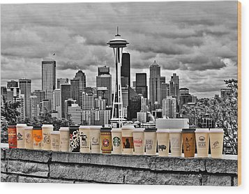 Coffee Capital Wood Print