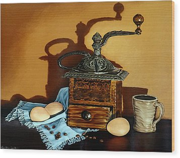 Coffee Grinder Wood Print