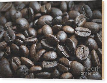 Coffee Wood Print by Jelena Jovanovic