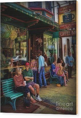 Coffee Lovers Wood Print by Lee Dos Santos