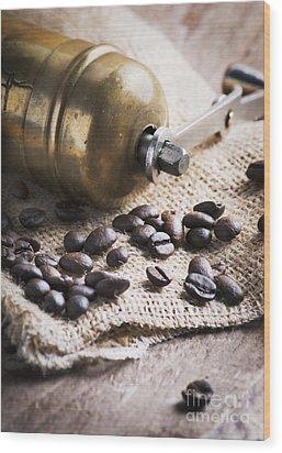 Coffee Mill Wood Print by Jelena Jovanovic