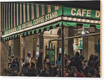 Coffee Please Wood Print