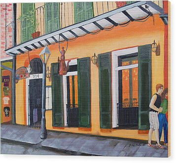 Coffee Pot Restaurant-french Quarter Wood Print by June Holwell
