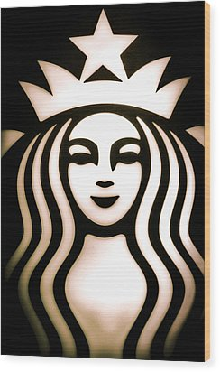 Coffee Queen Wood Print