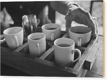 Wood Print featuring the photograph Coffee Tasting - Bali by Matthew Onheiber
