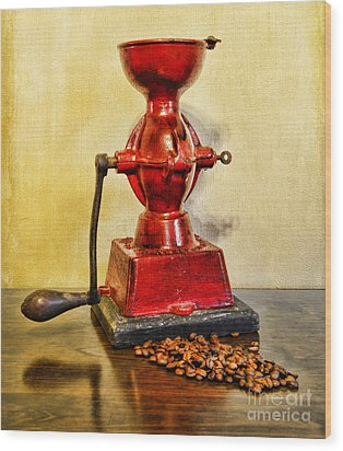 Coffee The Morning Grind Wood Print by Paul Ward