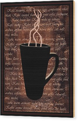 Coffee Time Wood Print