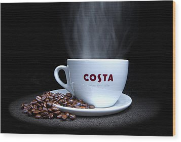 Coffee Time Wood Print by Rob Guiver