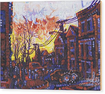 Coffee Time Sunset Wood Print by Michael Ciccotello