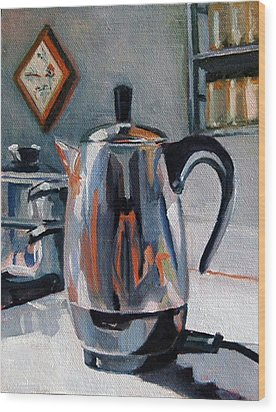 Coffeepot Wood Print