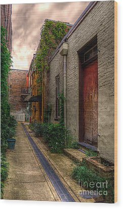 Wood Print featuring the photograph Coggin's Alley Way by Maddalena McDonald
