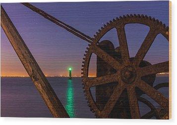 Cogwheel Framing Wood Print by Semmick Photo
