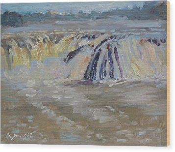 Cohoes Falls Wood Print by Len Stomski
