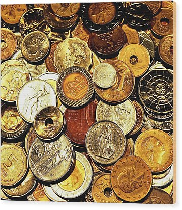 Coinage Wood Print by Benjamin Yeager