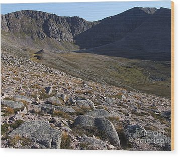 Wood Print featuring the photograph Coire An T' Sneachda - Cairngorm Mountains by Phil Banks