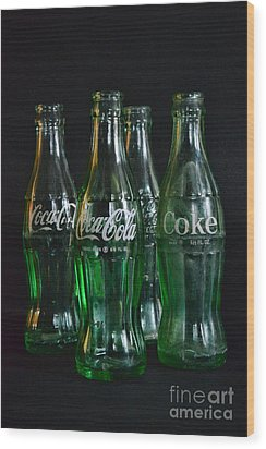 Coke Bottles From The 1950s Wood Print by Paul Ward