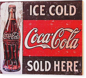 Coke Wood Print by Reid Callaway