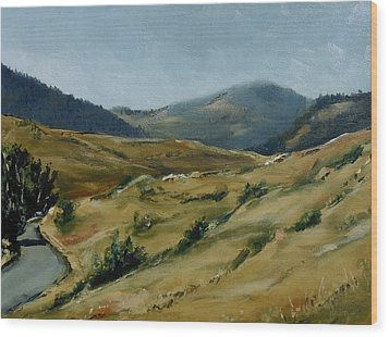 Cokedale Road Livingston Montana Wood Print