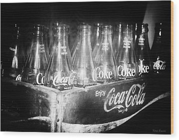 Wood Print featuring the photograph Cola Crate by Yvonne Emerson AKA RavenSoul