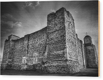 Colchester Castle Wood Print by Svetlana Sewell