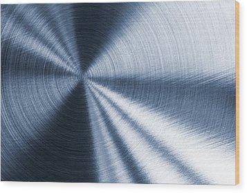 Cold Blue Metallic Texture Wood Print