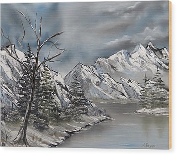 Cold Day Wood Print by Kevin  Brown