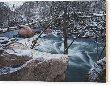 Cold Drift Wood Print by Bill Cantey
