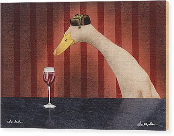 Cold Duck... Wood Print by Will Bullas