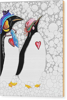 Cold Feet Warm Hearts Wood Print by Eloise Schneider