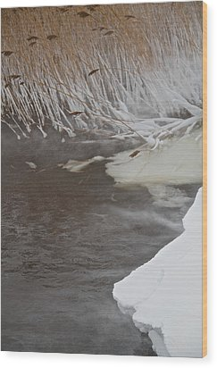 Cold Fills The Void Wood Print by Odd Jeppesen
